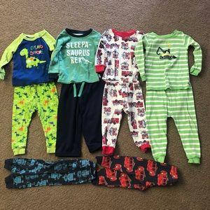 Toddler Pajamas Bundle - 4 sets plus 2 extra pants
